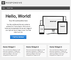 Responsive wordpress website example : high speed